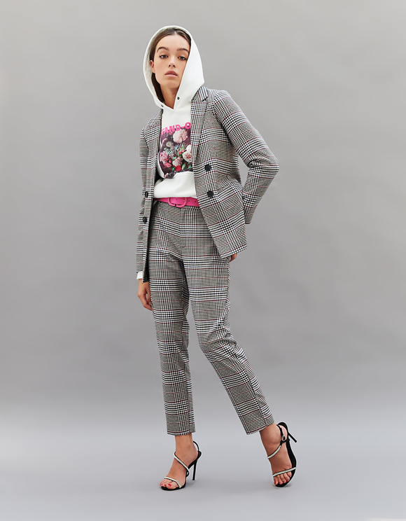 Double Breasted Straight Fit Blazer