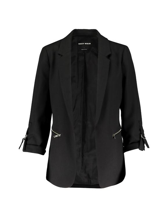 Black blazer with Zip Detail