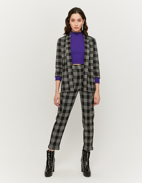 Black Checked Blazer