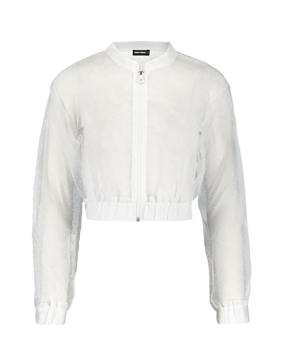Giacca Bomber in Organza