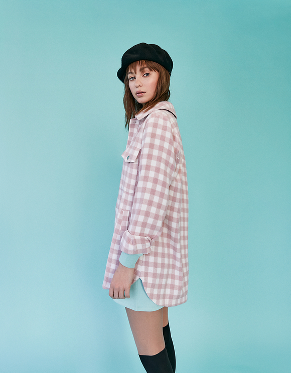 Gingham Print Shacket