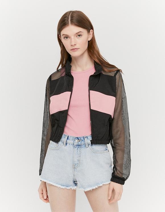 Windbreaker Jacket with Mesh Insert
