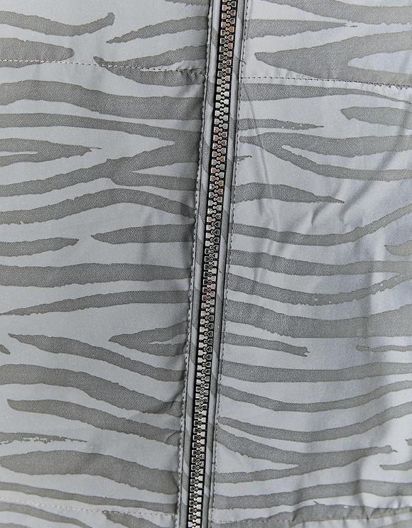 Reflektierende Pufferjacke mit Zebra-Muster