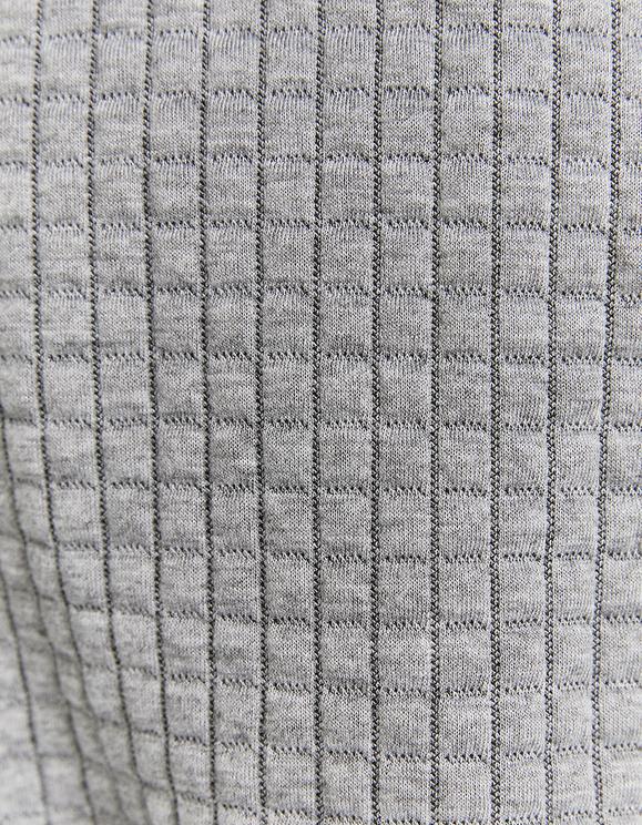 Gray Jacket in Waffle Fabric