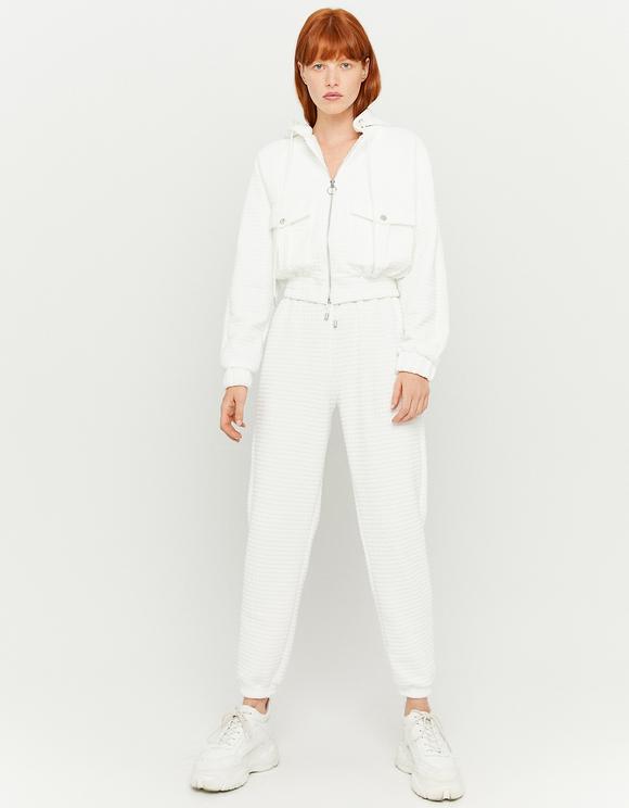 White Jacket in Waffle Fabric
