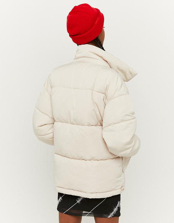 Beige Puffer Jacket