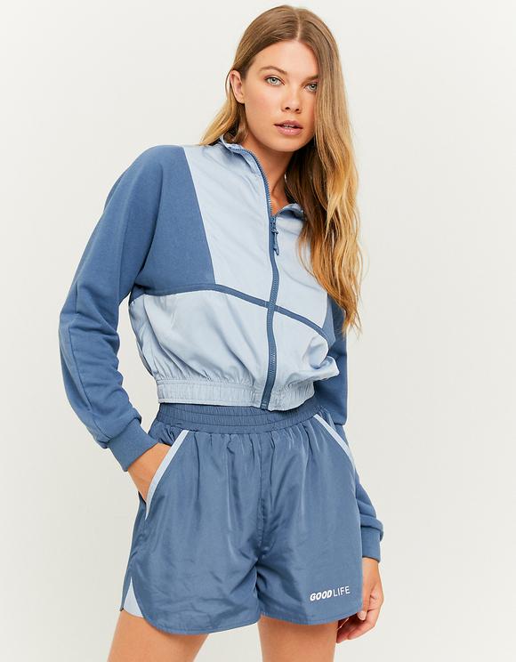 Blue Lightweight Windbreaker Jacket