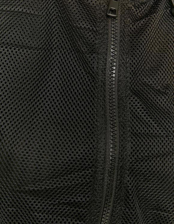 Schwarze ärmellose kurze Jacke