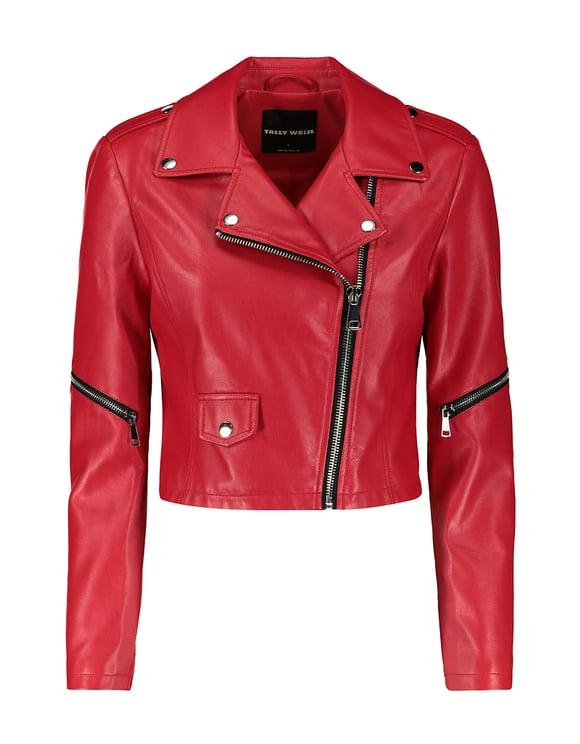 Red Bikerjacke