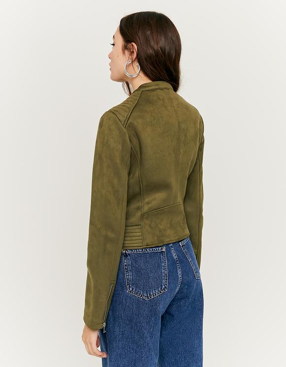 Khaki Faux Suede Jacket