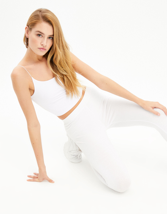 Legging Blanc Court