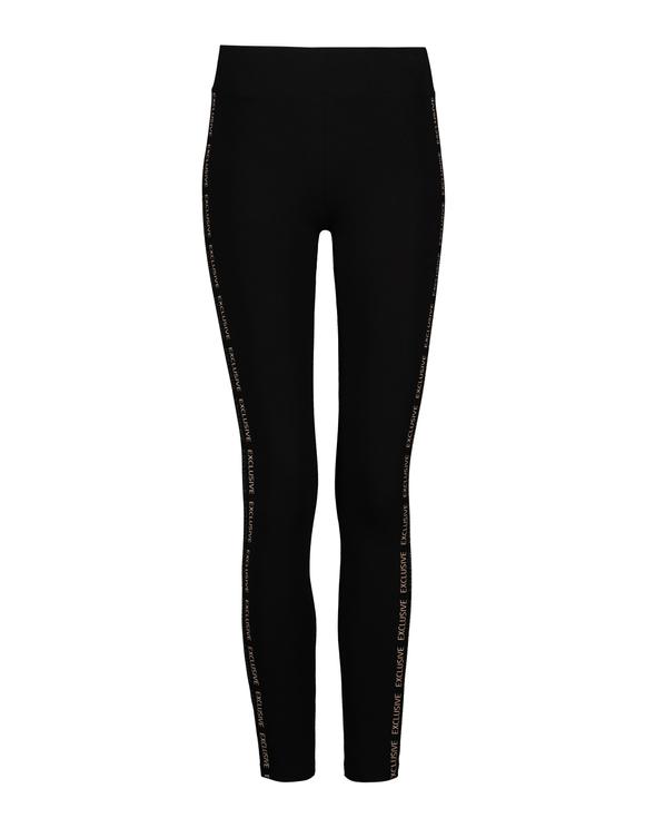 Black Side Stripes Leggings