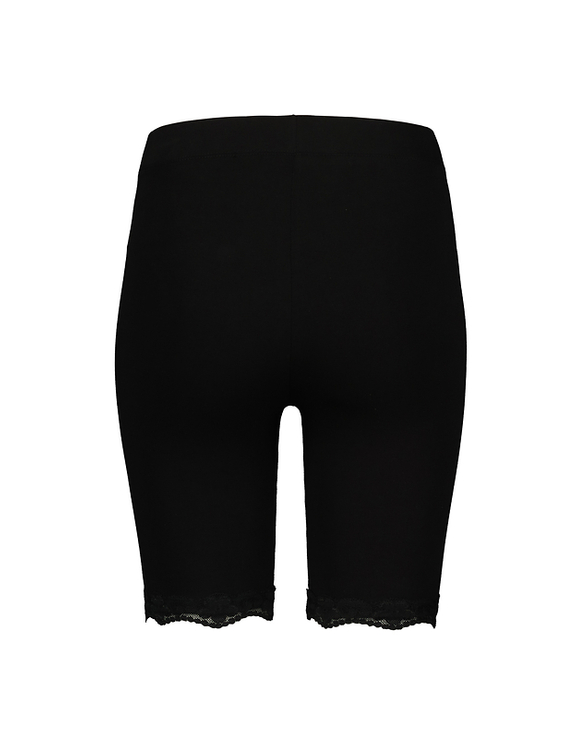 Black Cycling Leggings with Lace