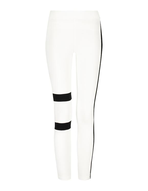 White Side Stripe Leggings