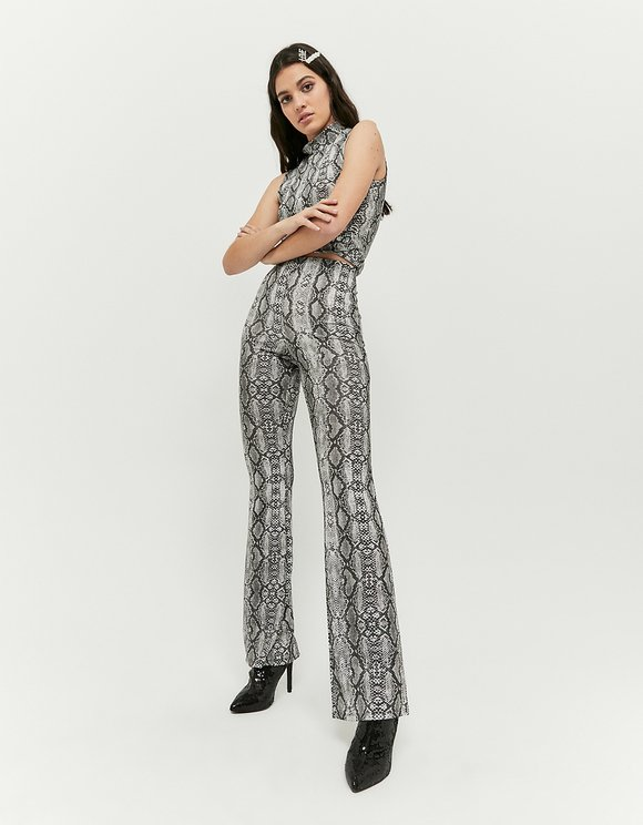 Leggings in Stampa Serpente