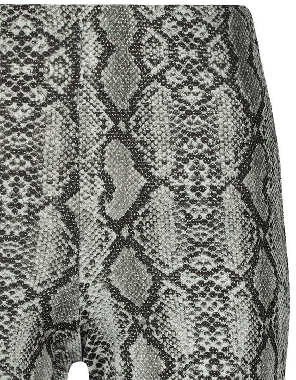 Flare Leggings mit Schlangen-Muster