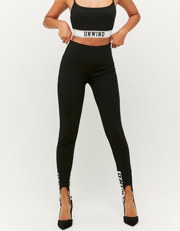 Schwarze High Waist Sporty Leggings