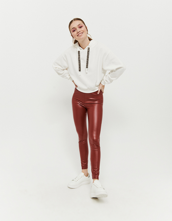 Legging Bordeaux en Similicuir