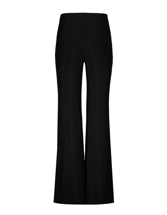 Black Lurex Flare Leggings