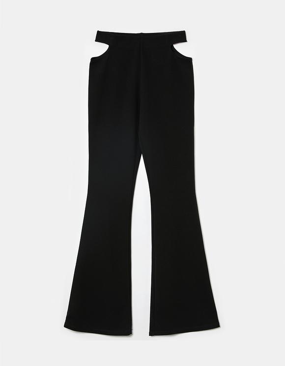 Schwarze High Waist Flare Leggings