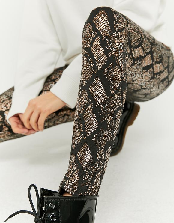 Shinny Snake Print Leggings