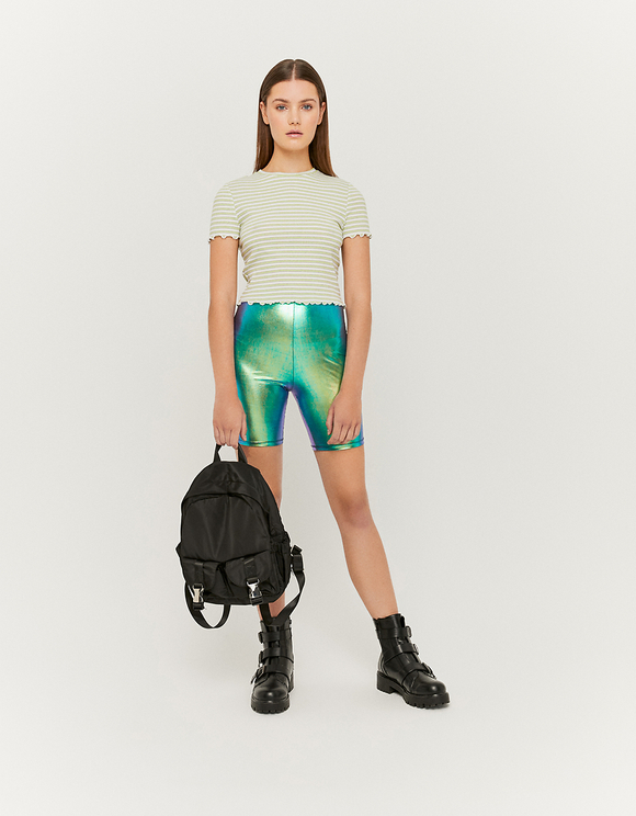 Holographic Cyclist Leggings