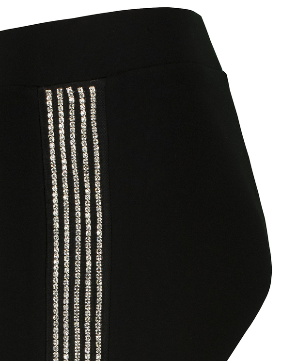 Leggings with Rhinestones Side Stripes