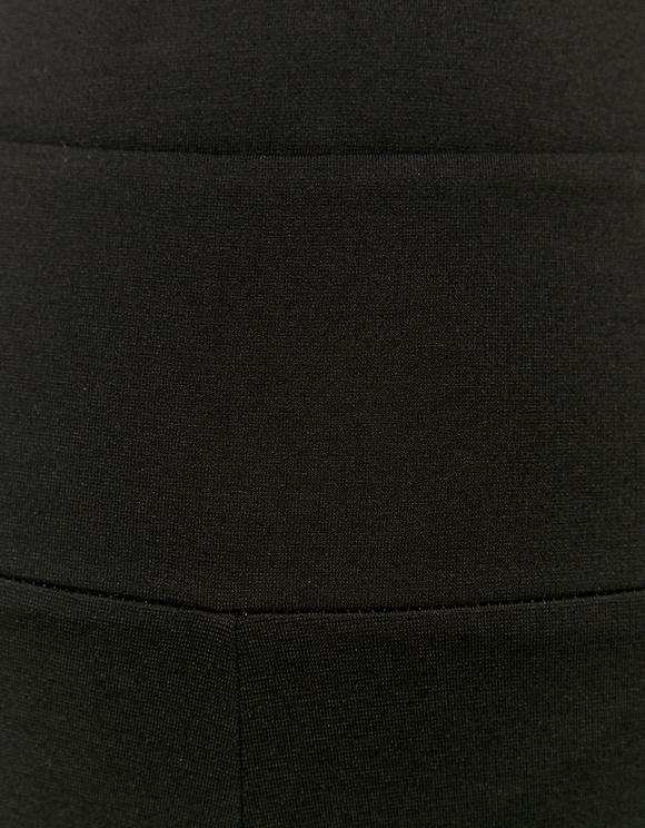 Legging Noir Flare en Tissu Milano