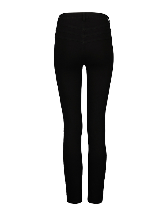 High Waist Button Front Skinny Hose