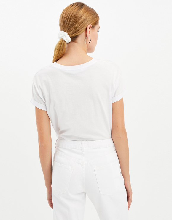 White Boyfriend Trousers