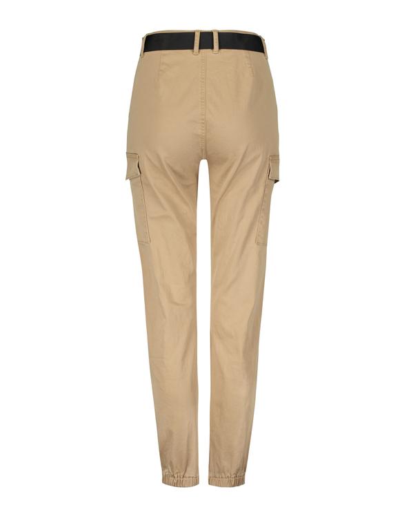 Beige Cargo Pants with Belt