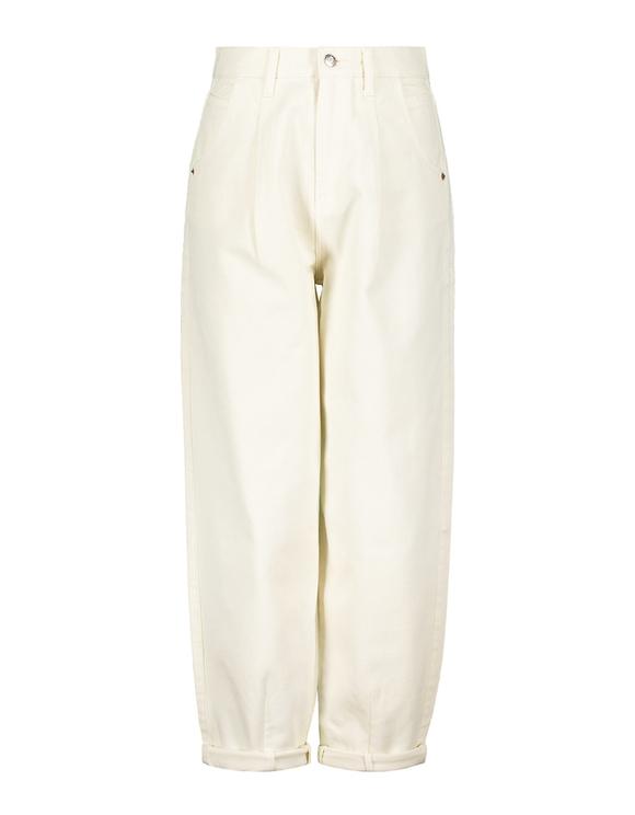 Jean Slouchy Taille Haute Blanc Cassé