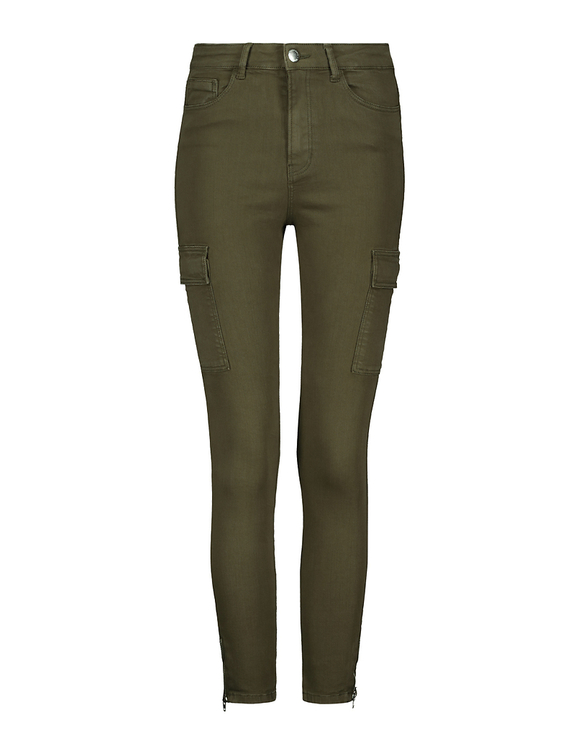 Dark Khaki High Waist Skinny Cargo Pants