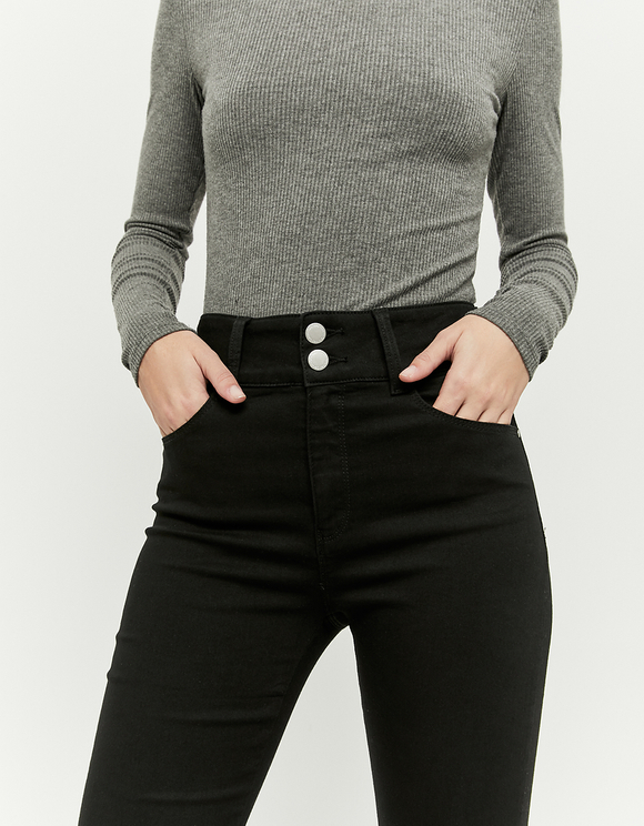 High Waist Pants with Buttons