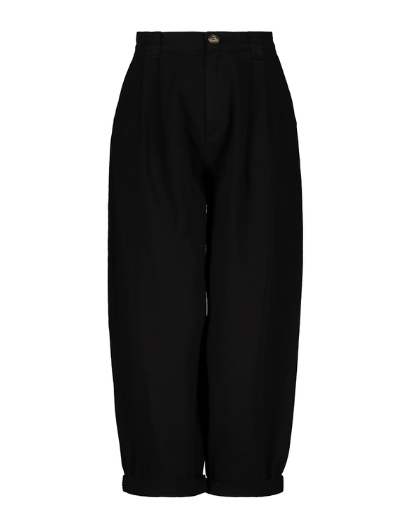 High Waist Slouchy Black Pants