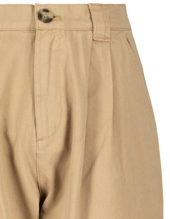 Beżowe spodnie Slouchy z wysokim stanem
