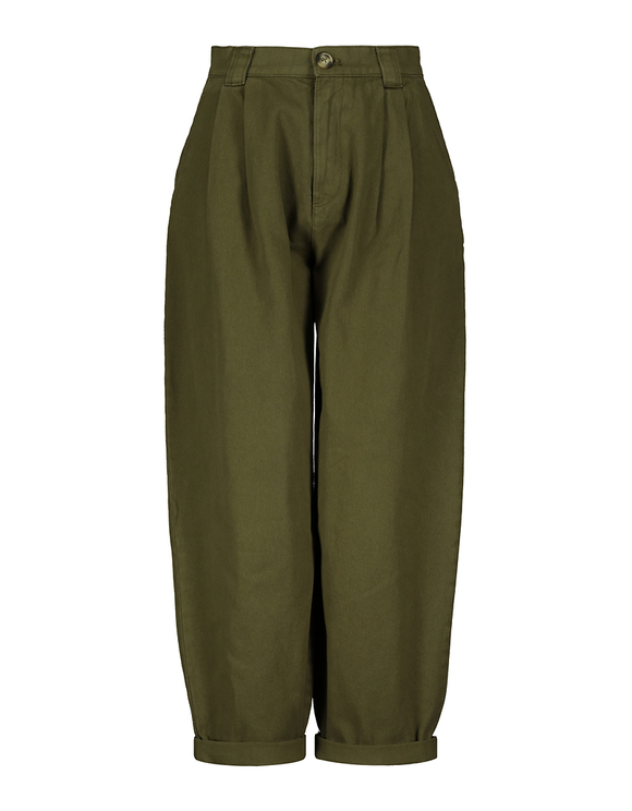 High Waist Slouchy Khaki Pants