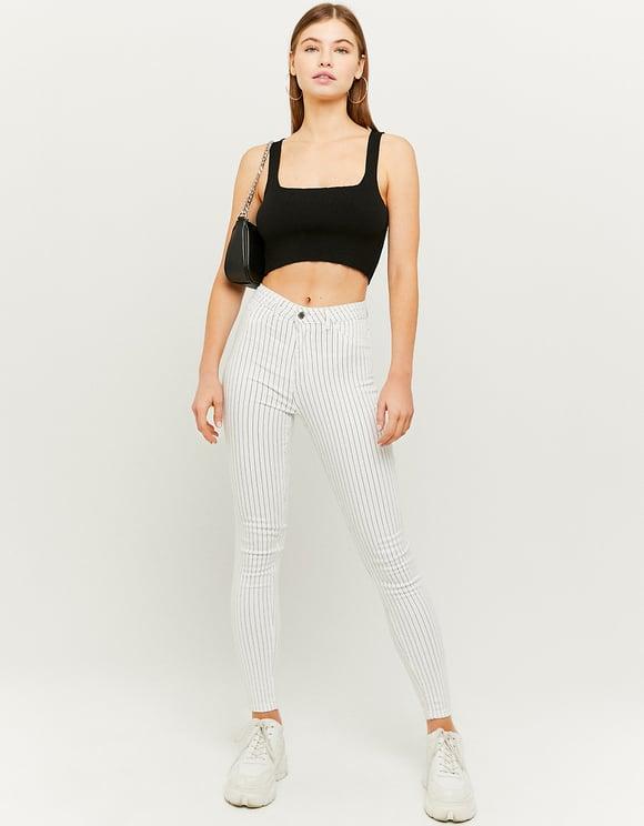 Pantalon Beige Taille Haute Skinny
