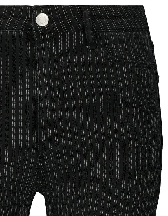 High Waist Skinny Striped Pants