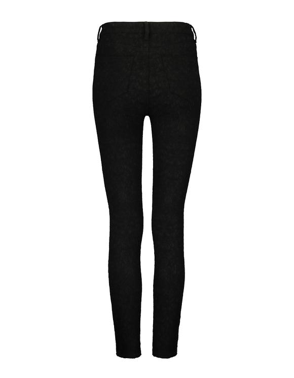 Pantalon Noir Skinny avec Effet Dentelle
