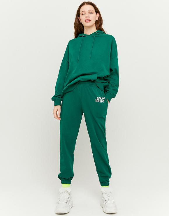 Green Printed Joggers