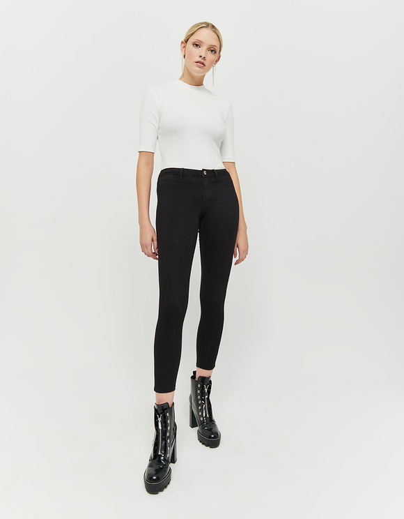Black Low Waist Skinny Trousers