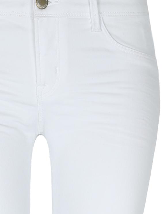 Pantalon Skinny Taille Basse Blanc