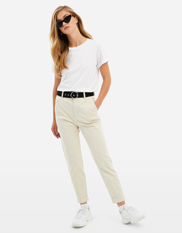 Beige Chino Trousers