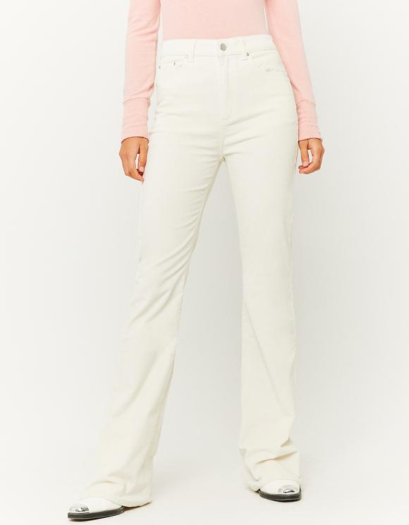 High Waist Flare Corduroy Trousers