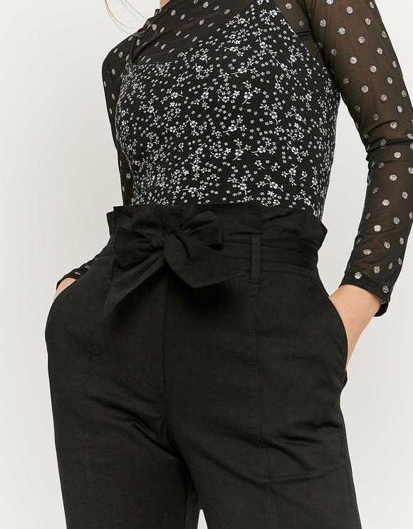 Pantalon Coupe Carotte Noir