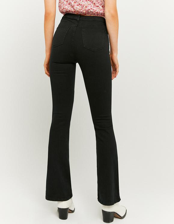 High Waist Skinny Flare Trousers