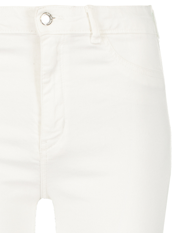 Pantalon Évasé Taille Haute Skinny Blanc