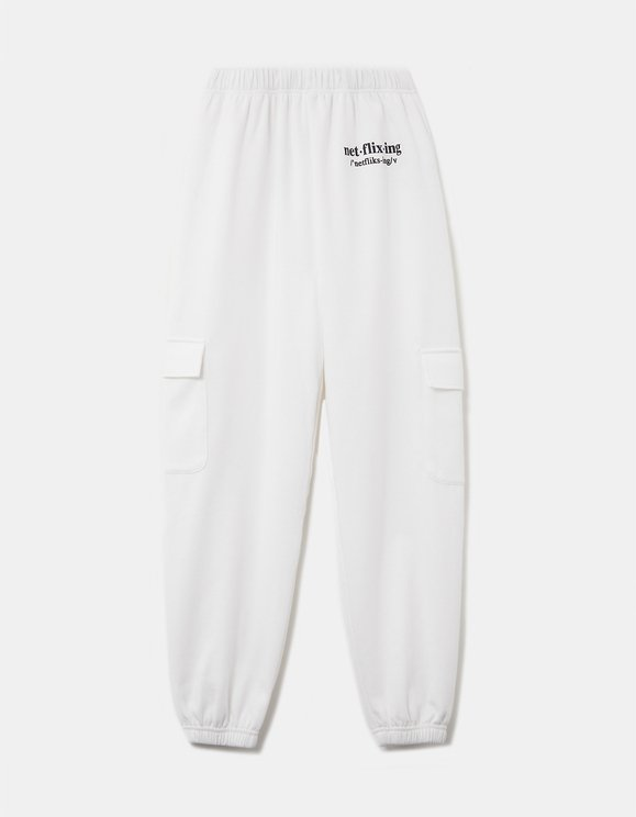Pantaloni Jogger Bianchi