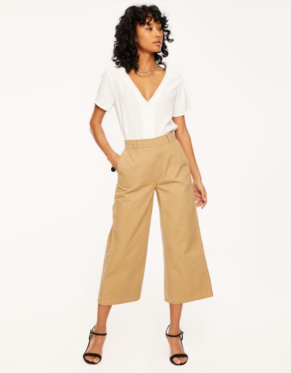 Beige Culotte Trousers